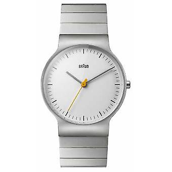 Braun Mens Stainless Steel Bracelet White Dial BN0211SLBTG Watch