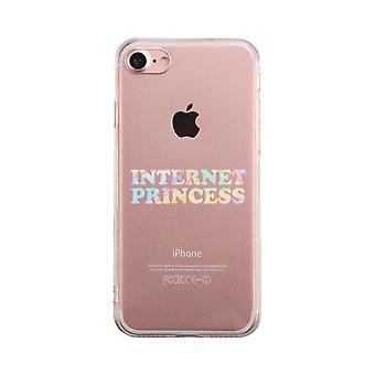 Internet Princess Transparent Phone Case Cute Clear Phonecase
