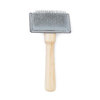 Heritage Wood Handle Soft Slicker Brush Sml