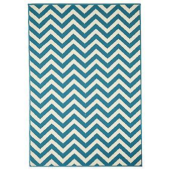 Lys blå kystnære Chevron tæppe - Floorit