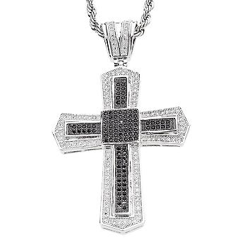 Iced out bling MICRO PAVE pendentifs - KING CROSS noir