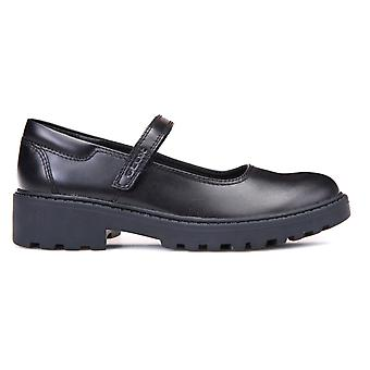 Geox Girls Casey MJ J6420P School Shoes Black