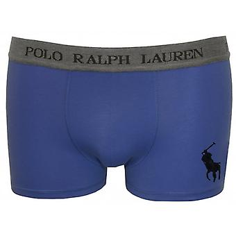 Polo Ralph Lauren Polo Ralph Lauren Maidstone Blue Pouch Boxer Trunk With Grey Waistband
