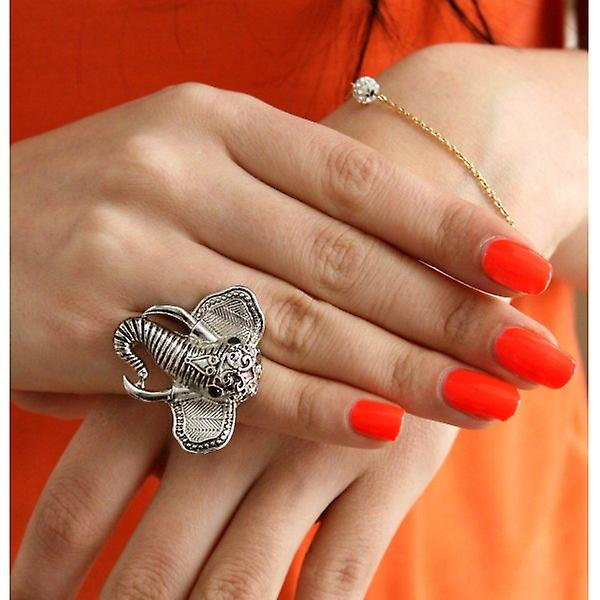 W.A.T Silver Style Elephant Ring