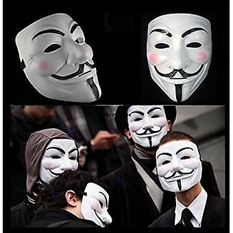 2015 neue V for Vendetta Maske mit Eyeliner Nasenloch anonymen Kerl Fawkes Fancy Erwachsenen Kostüm Zubehör Halloween Maske