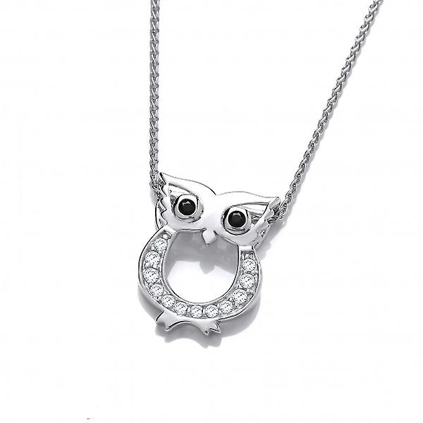 Cavendish French Cute CZ Owl Pendant without Chain
