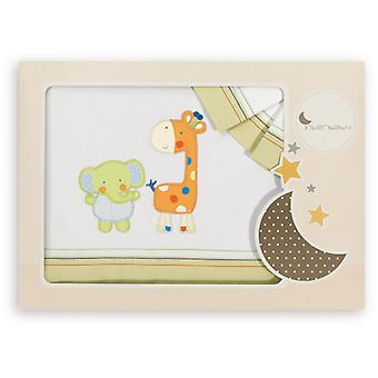 Interbaby Cradle triptych Model Elephant and Giraffe Pistachio