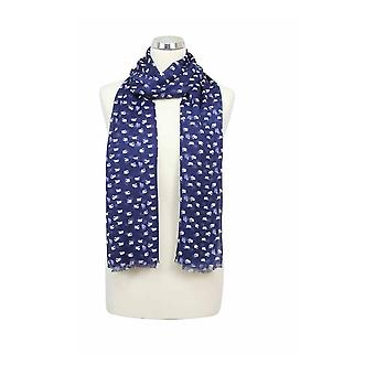 Peony Scarf - Sheep - Midnight/navy
