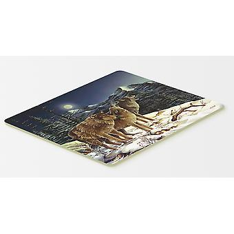 Wolf Wolves Crying at The Moon Kitchen or Bath Mat 20x30