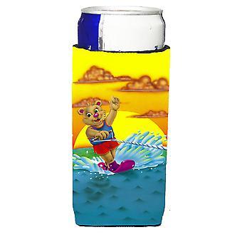 Teddy Bear Wasserski Michelob Ultra Getränke Isolatoren für schlanke Dosen