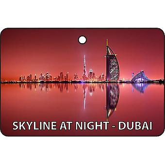 Skyline At Night - Dubai Car Air Freshener
