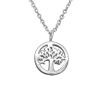 Tree Of Life - 925 Sterling Silver Plain Necklaces - W30059X