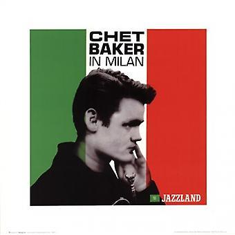 Chet Baker - Milano plakatutskrift plakat