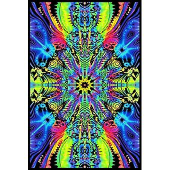Wormhole Blacklight Poster Poster Print