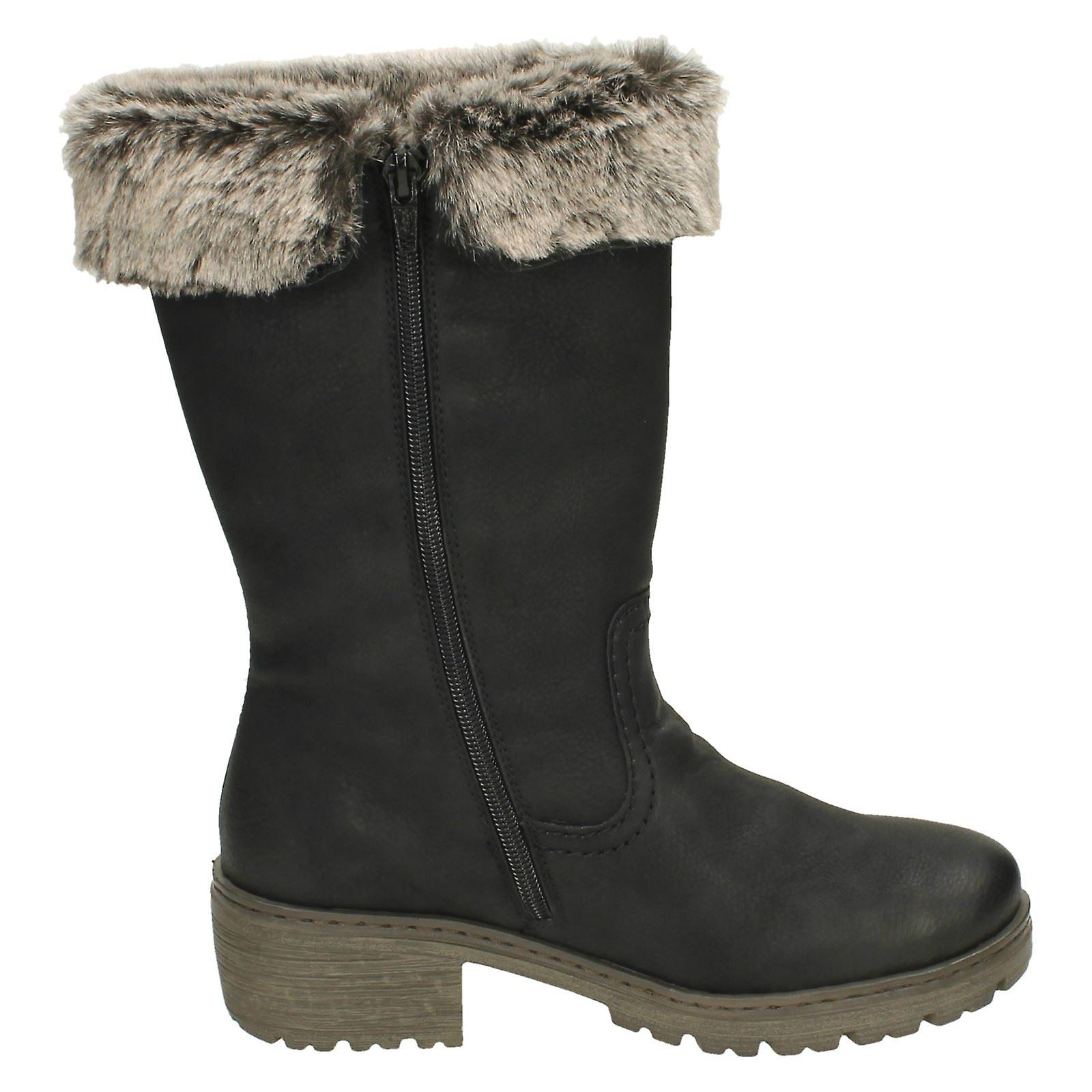 Y4590 Rieker Warm Ladies Boots Lined AaP1R1Hwq