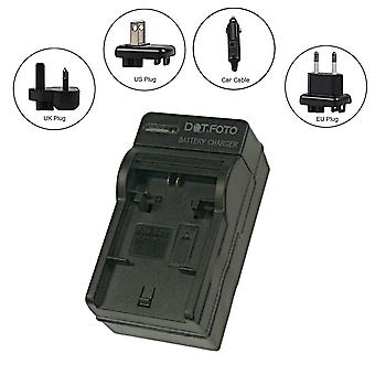 Dot.Foto Casio NP-100 Travel Battery Charger - replaces Casio BC-100L