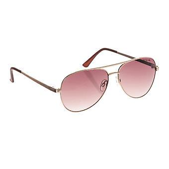 Animalske brand solbriller - bleg guld / brun