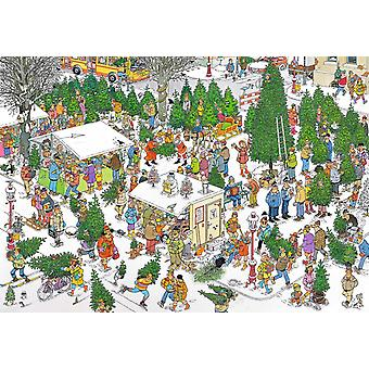 Jan Van Haasteren Christmas Tree Market Jigsaw Puzzle (2000 Pieces)