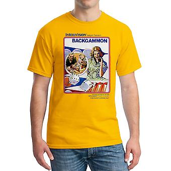 Intellivision Backgammon Classic spil mænds guld T-shirt