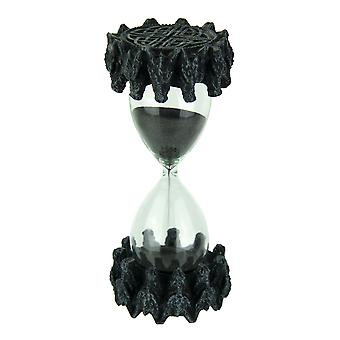 Gothic Medieval Dragon Head Black Sand 10 Minute Timer