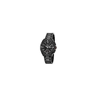 Invicta mannen 7300 handtekening zwarte wijzerplaat zwart Tone Stainless Steel Watch