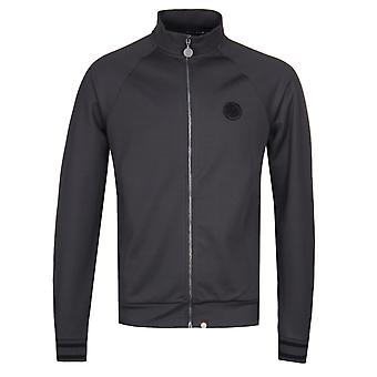 Pretty Green Zip Through Grey Track Top