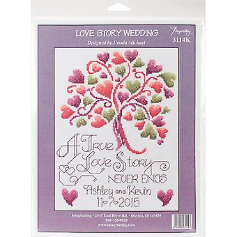 Love Story Counted Cross Stitch Kit-7.5