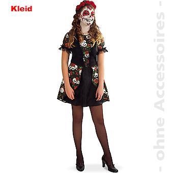 Skull girl dress day of the dead Halloween teen costume