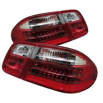 Spyder Auto ALT-CL-MBW210-LED-RC Mercedes Benz W210 E-Class Red/Clear LED Tail Light