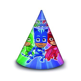 PJ maschere pigiama eroi partito cappelli 6 pezzo bambini compleanno tema