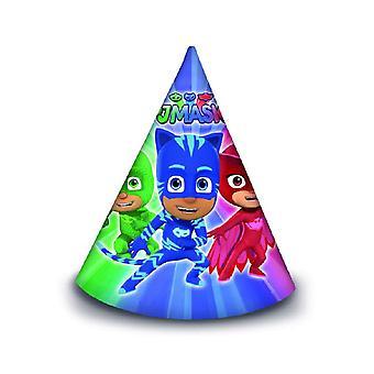 PJ Masks Pyjamahelden Party Hüte 6 Stück Kindergeburtstag Mottoparty