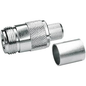 N connector Socket, straight 50 Ω Telegärtner J01021A0146