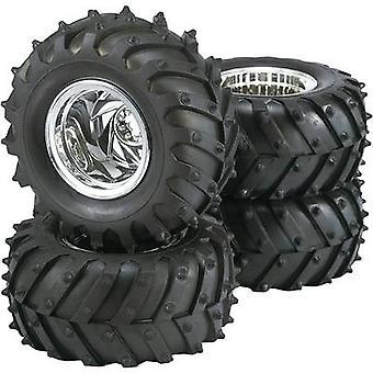 Reely 1:10 Monster truck Tractor de ruedas 5 radios cromo 4 PC