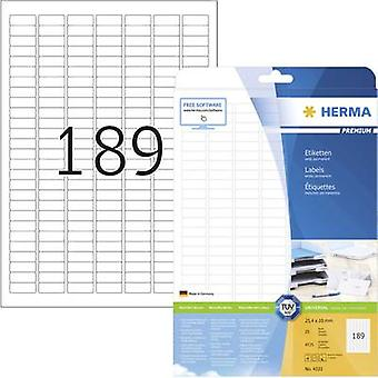 Herma 4333 Labels 25.4 x 10 mm Paper White