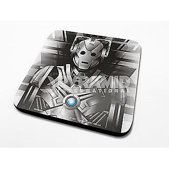 Doctor Who Cyberman Cork Backed Drinks Mat / Coaster