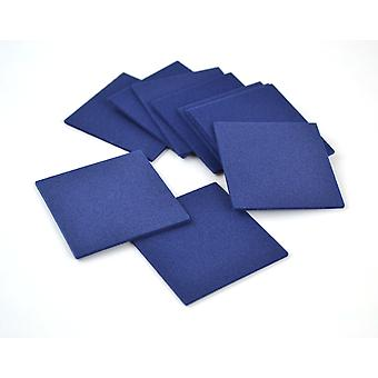 10 Navy Blue Small Craft Foam Squares | Childrens Craft Foam