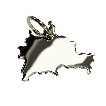 Trailer map BERLIN pendant in solid 925 Silver