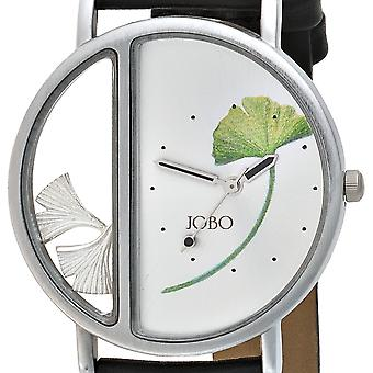 JOBO men's wristwatch quartz analog 925 sterling silver stainless steel mineral glass