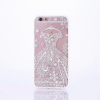 Móvil caso mandala para Apple iPhone 8 plus diseño funda adorno vestido funda bolso tope blanco