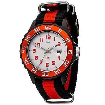 JOBO детей наручные часы кварцевые часы аналоговые черный красный детей с датой
