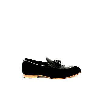 Handcrafted Premium Leather Archer Black Loafer