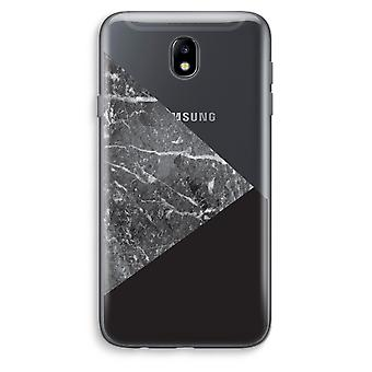Samsung Galaxy J7 (2017) Transparent Case (Soft) - Marble combination