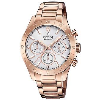 Festina Womens Boyfriend Chronograph Rose Gold PVD F20399/1 Watch