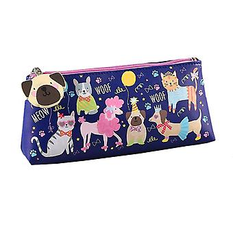 Girls blue pets pencil case