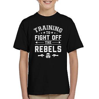 Original Stormtrooper-Ausbildung zum Kampf gegen Rebellen Kinder T-Shirt