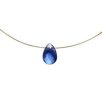 Kette gold Blautopas Quarz Halskette Tropfen GIULIA Collier vergoldet