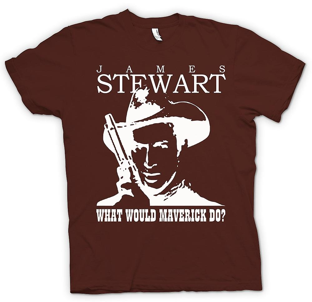 Mens T-shirt - James Stewart - Maverick Cowboy