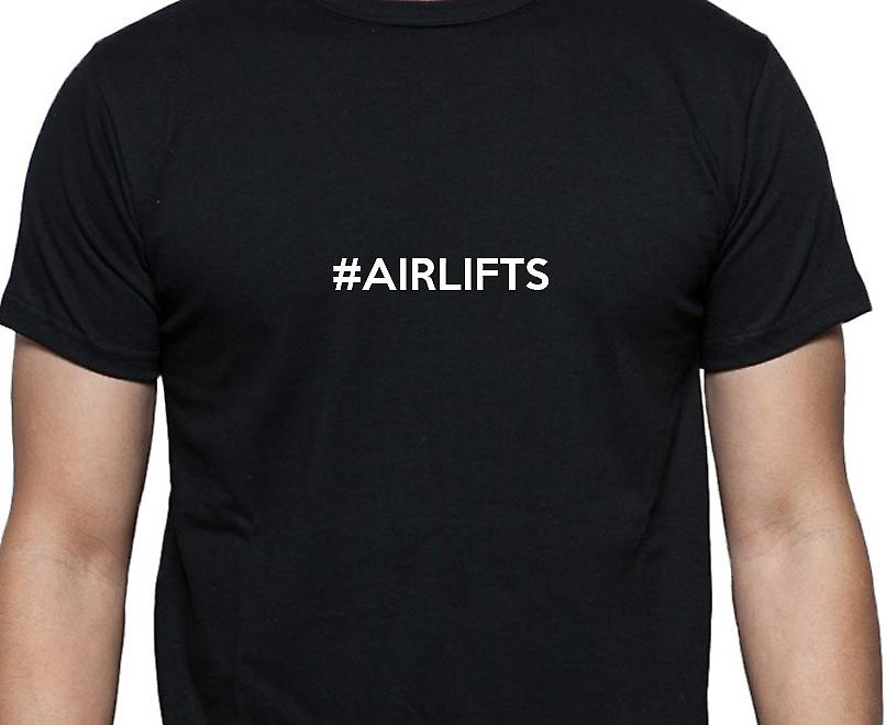 #Airlifts Hashag Airlifts Black Hand Printed T shirt