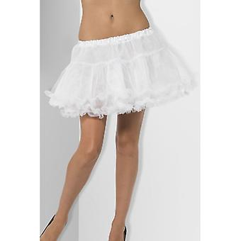 Petticoat, White, with Satin Band Fancy Dress Accessory