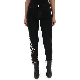Off-white Black Cotton Jeans